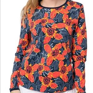 ❤️{3/$25} Hang Ten Floral Rash Guard Tee Shirt